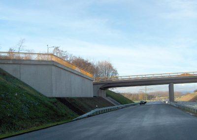 Stützwand B6n Abfahrt Halberstadt