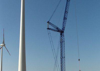 Kranaufstellflächen Windkraftanlage bei Emden