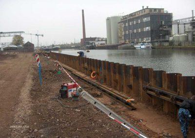 Ufersicherung Industriehafen Magdeburg