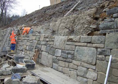 Sanierung Stützwände Monschau